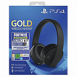 PlayStation Gold Wireless Headset - Jet Black w/ Fortnite Game