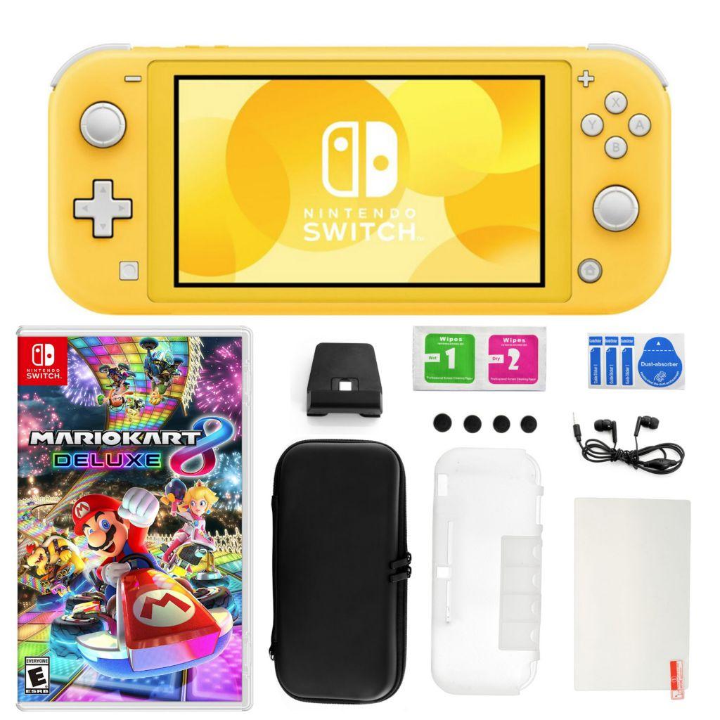 Nintendo Switch Lite W Mario Kart 8 Deluxe 11 In 1 Accessories Kit