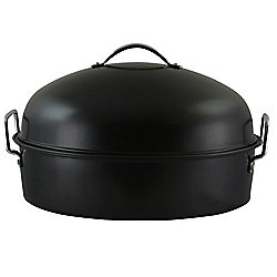 "Gibson Home Kenmar 16"" High Dome Oval Roaster w/ Rack"