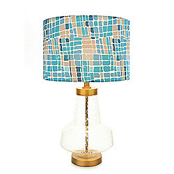 "Style at Home with Margie 24.5"" Kris Ruff Berkeley Glass Table Lamp"