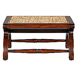 "Design Toscano 24"" Mahogany British Plantation Footstool"