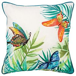 Home Accents 490-359 Rizzy Home 20 Botanical Print Decorative Pillow - 490-359