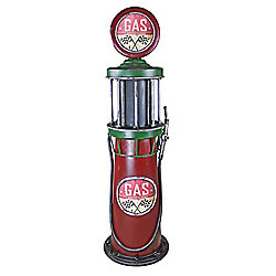 Design Toscano Service Station Vintage Design Metal Gas Pump Sculpture