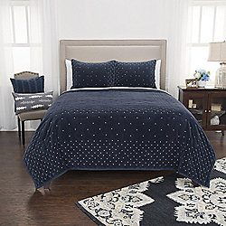 "Rizzy Home ""Giavonna"" Embroidered Cotton Velvet Quilt"