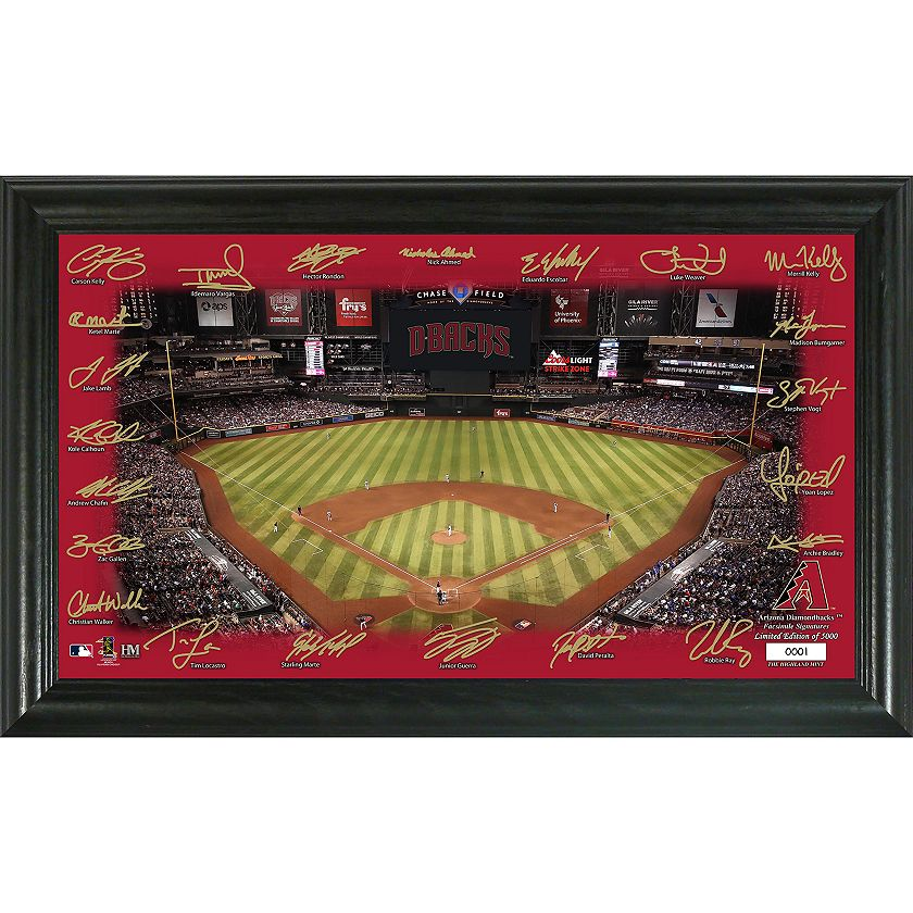 491-204 The Highland Mint Limited Edition MLB Framed 2020 Field w Team Signatures