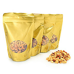 Waggoner Chocolates Premium 4-Pack (3 lbs) Roasted Party-Ready Mixed Nuts Gift Bags