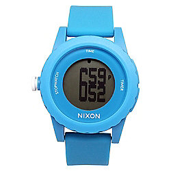 Nixon Men's 45mm Genie Quartz Digital Dial Blue Silicone Strap Watch