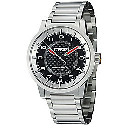 Ferrari 44mm Granturismo Swiss Made Automatic Stainless Steel Bracelet Watch