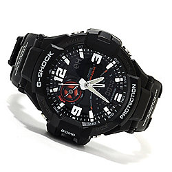 Casio 47mm G-Shock Aviation Quartz Chronograph Analog Digital Rubber Strap Watch