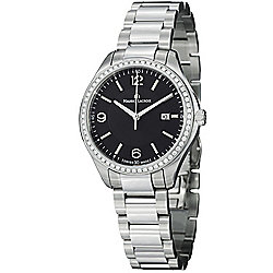 Maurice Lacriox Women's Miros Swiss Quartz Diamond Accented Stainless Steel Bracelet Watch