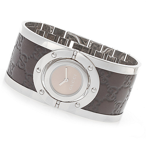 aae9de78f 626-577- Gucci Women's Twirl Swiss Made Quartz Stainless Steel Bangle  Bracelet Watch