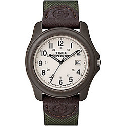 Timex Men's 39mm Expedition Camper Quartz Brown Nylon Strap Watch