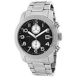 Marc Jacobs Men's 45mm Larry Quartz Chronograph Date Stainless Steel Bracelet Watch