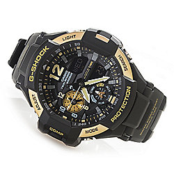Casio Men's 49mm G-Shock Gravitymaster Digital Quartz Chronograph GMT Resin Strap Watch