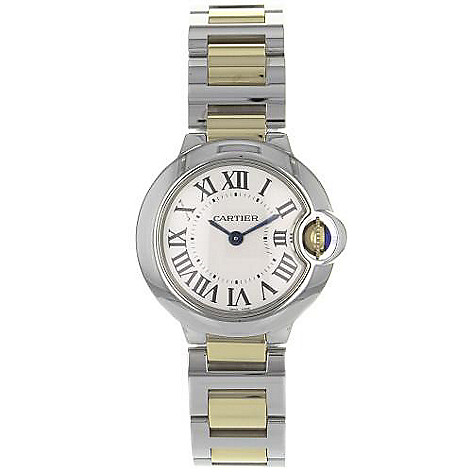 Cartier Womens Ballon Bleu Swiss Made Quartz Stainless Steel Bracelet Watch