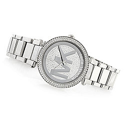 Shop All Michael Kors - Michael Kors Women's Parker Quartz Crystal Accented Stainless Steel Bracelet Watch - 633-578