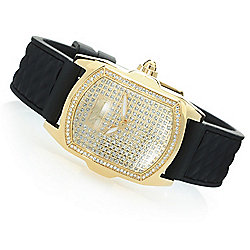 Invicta Women's Lady Lupah Quartz Crystal Accented Silicone Strap Watch