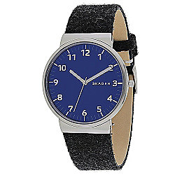Skagen 40mm Ancher Quartz Grey Felt Strap Watch