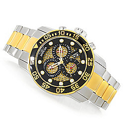 """As Is"" Invicta 49mm Pro Diver Scuba Quartz Chronograph Stainless Steel Bracelet Watch"