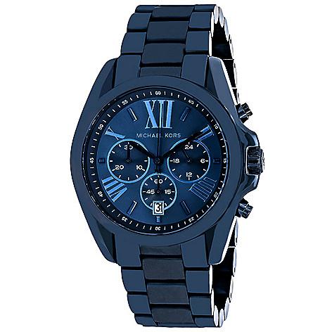 2acf976bca7d 640-558- Michael Kors Women's Bradshaw Quartz Chronograph Stainless Steel  Bracelet Watch
