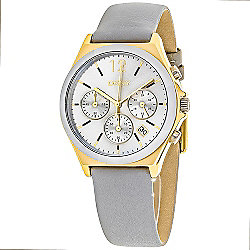 DKNY Women's Parsons Quartz Chronograph Leather Strap Watch
