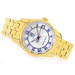 S. Coifman 33mm or 45mm Limited Edition Swiss Automatic Mother-of-Pearl Bracelet Watch