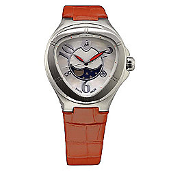 Tonino Lamborghini Women's Spyder Swiss Made Quartz Mother-of-Pearl Leather Strap Watch