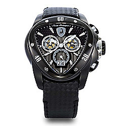 Tonino Lamborghini Men's 44mm Spyder Swiss Made Quartz Chronograph Leather Strap Watch