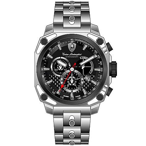 Tonino Lamborghini Watch >> Tonino Lamborghini Men S 44mm Four Screws Swiss Made Quartz Chronograph Bracelet Watch