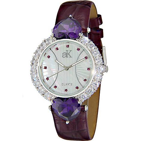 ec8b1d19db5 644-661- Adee Kaye Women's Sweet Heart Quartz Crystal Accented Mother-of-
