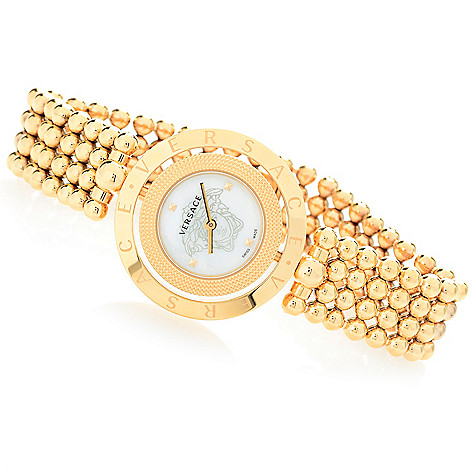 8e021ec6 Versace Women's Eon Swiss Made Quartz Mother-of-Pearl Stainless Steel  Bracelet Watch on sale at evine.com