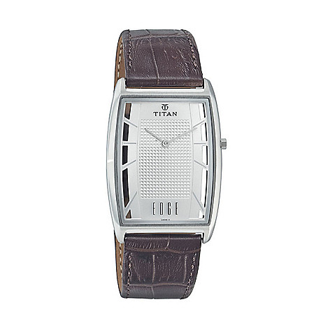bd264b7157b Titan Men s 30mm Edge Series Ultra Slim Quartz Leather Strap Watch - EVINE