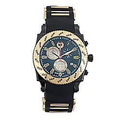 Brillier Men's 43mm Method Air Swiss Made Quartz Chronograph Diamond Accented Rubber Strap Watch
