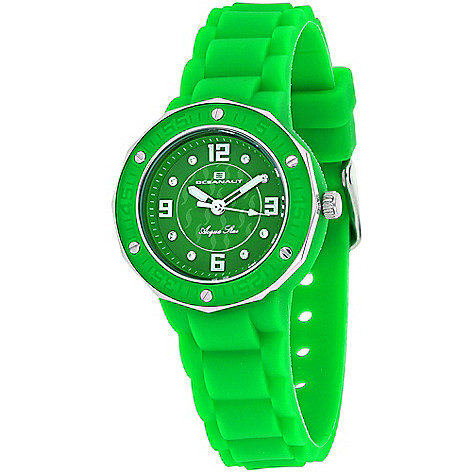 Crystal Silicone Star Acqua Quartz Strap Accented Oceanaut Women's Watch VzMpSU