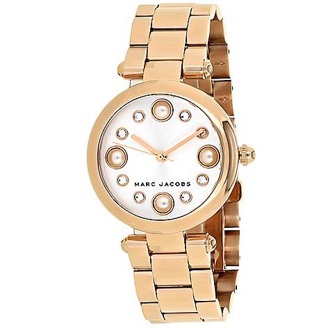 Dotty Or Women's Stainless 25mm Bracelet Marc Watch 34mm Steel Jacobs Quartz 8nPX0wOk