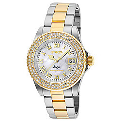 3df15cce0 Invicta Women's Angel Quartz Mother-of-Pearl Dial Crystal Accented  Stainless Steel Bracelet Watch