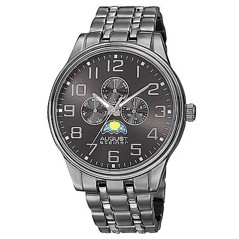 15db1bbdd6626 646-526- August Steiner Men s 45mm Quartz Multi Function Bracelet Watch