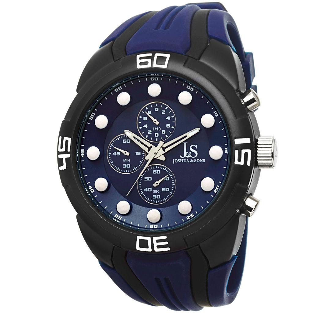 Joshua & Sons 49mm Sport Chronograph Watch - 646-656