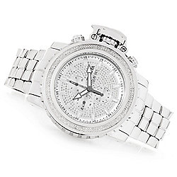 Invicta Men's 58mm Sea Hunter Automatic 2.14ctw Diamond Stainless Steel Bracelet Watch