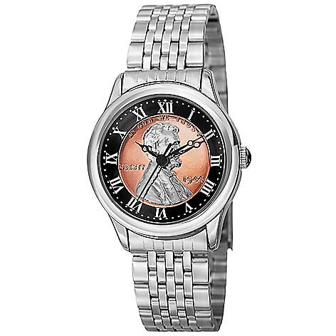 August Steiner Women's Quartz Commemorative Penny Dial Bracelet Watch on sale at