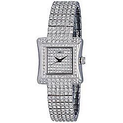 8bb92774e02 Adee Kaye Women's Exquisite Curvy Quartz Crystal Accented Bracelet Watch