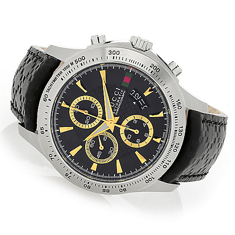 a12a2aa54ad Gucci Men s 44mm G-Timeless Swiss Made Automatic Chronograph Strap Watch -  EVINE