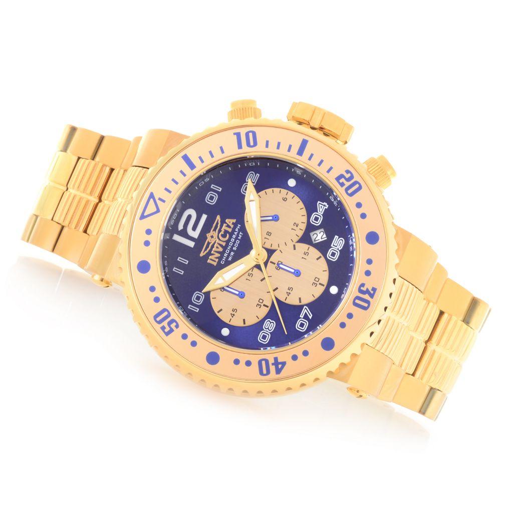 Invicta Men's 52mm Pro Diver Combat Seal Quartz Chronograph Bracelet Watch  w/ 1-Slot Dive Case