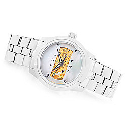 ARAGON 42mm or 50mm Horizon Automatic Skeletonized Mother-of-Pearl Dial Bracelet Watch - 647-136