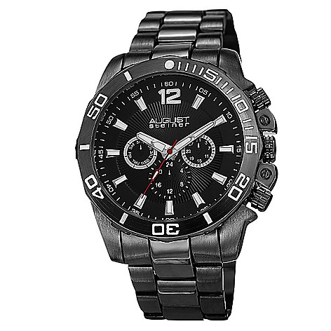 c960b73498d69 649-369- August Steiner Men s 46mm Quartz Multi Function Stainless Steel  Bracelet Watch