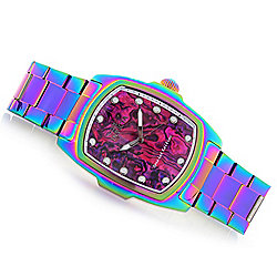 Invicta Baby or Grand Lupah Quartz Abalone Dial Iridescent Bracelet Watch