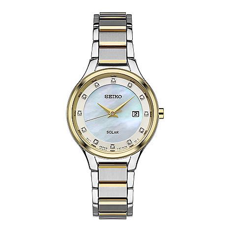 Seiko_Women's_Solar_Quartz_Diamond_Accented_Date_Stainless_Steel_Bracelet_Watch