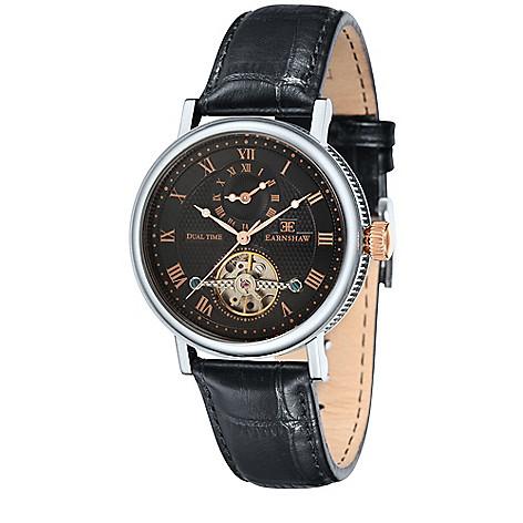 0c1b24665 thomas earnshaw mens 43mm beaufiort automatic multi function open heart  black dial s.