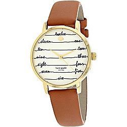 b7055c7ee8f Image of product 651-210. QUICKVIEW. Kate Spade Women s Metro Quartz  Written Numerals.