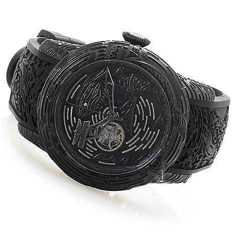 5c7cb91a861 651-340- Invicta Men s 51mm Maori Shark Automatic Open Heart Silicone Strap  Watch w